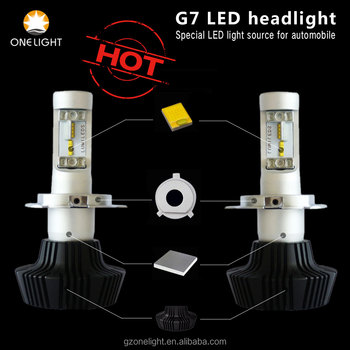 High quality Mini order sample order G7 LED headlight brand lamp for car Universal 25W 4000lm