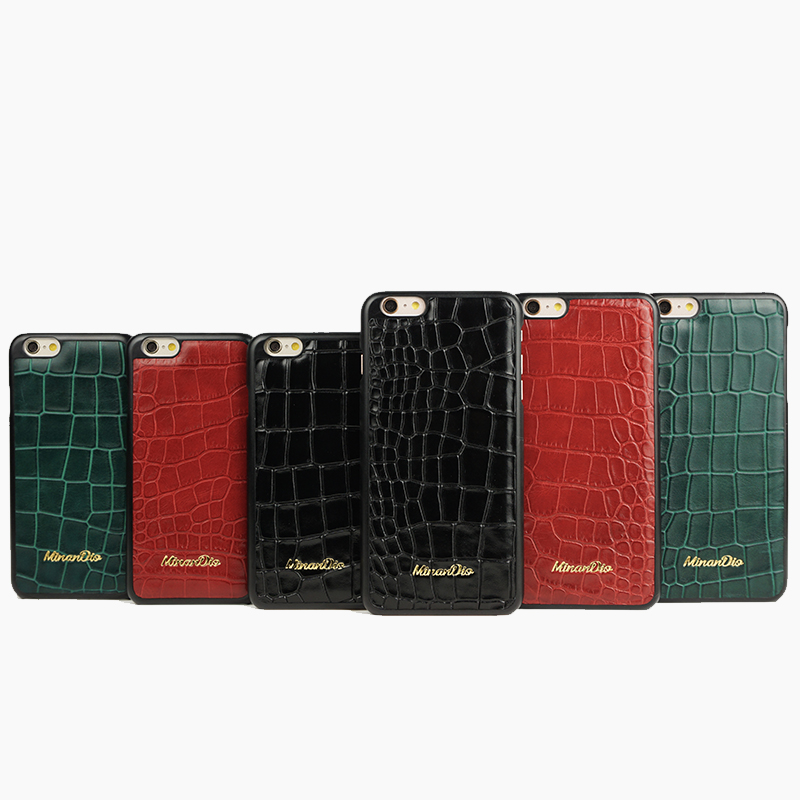 Customized genuine leather with crocodile pattern/ leather phone case for iphone 7/factory direct sale smartphone case