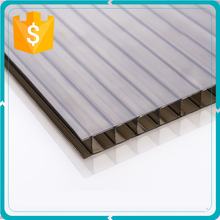 Brown twin Wall polycarbonate roofing sheet