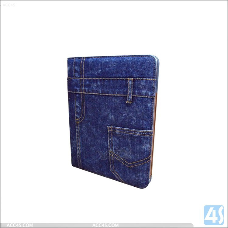 Best qulity Jeans PU leather cases for ipad air 2,for ipad 6 case covers