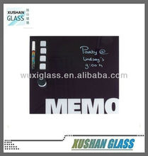 The Glass Magnetic Memo Board (white 35cm x 35cm) with magnets, magnetic eraser and dry wipe white ink pen.