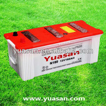 12V 180AH JIS Dry Charged Starting Lead Acid Truck Battery N180