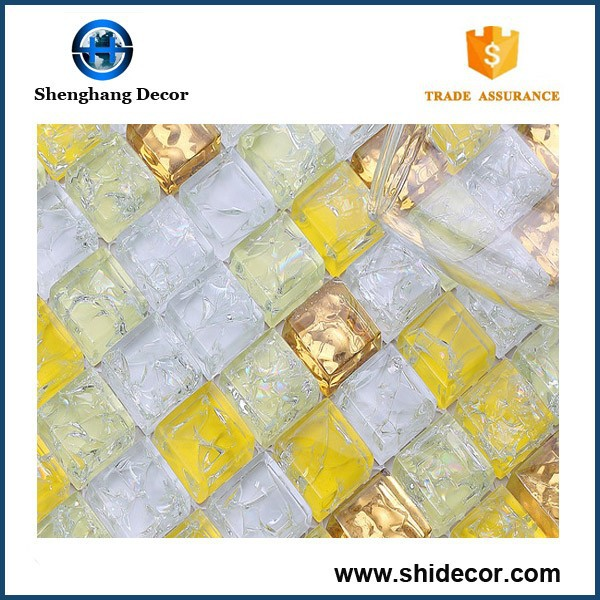 15X15mm Customized Glass Mix Stone Mosaic Tile