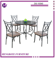 Wholesale Low Price Antique Dining Room Set Metal Dining Table Antique Table and Chair for Use
