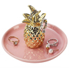 Gold Plated Pineapple Jewellery Tray Ring holder Ceramic Bathroom Nordic Decor