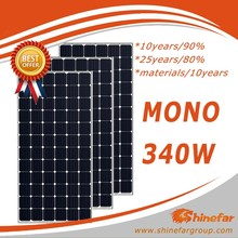 export pv panel 340w high quality mono solar module price for home use