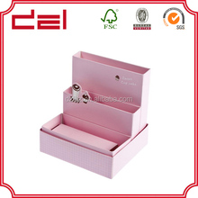 Fancy accept order cosmetic beauty suitcase packaging box