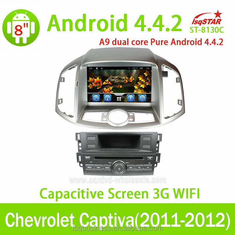 HD 1024*600 android 4.4 Quad core car dvd player mirror link for Chevrolet Captiva 2011 2012 2013/Epica