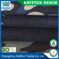 heavy 100 cotton printed fleece knit denim fabric for sweater