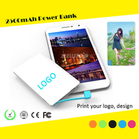Credit Card Size Power Bank Tiny Flat Mobile Battery Charger Pocket Power Bank