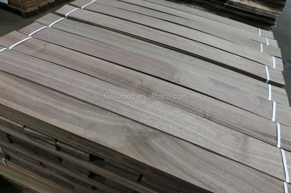 Natural American Walnut Sliced Wood Veneer for floor and furniture application