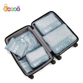 Encai Travel Luggage Storage Bags Organiser 6 In 1 Packing Cube Set