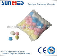 High Quality Household Bagged Colorful Cotton Ball