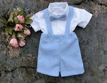 Wedding Clothing Suits Blue Pants Dress Baby Boys Bowtie Dress
