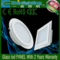 Simple and decent led glass panel light for 5W white warm-white and natural color