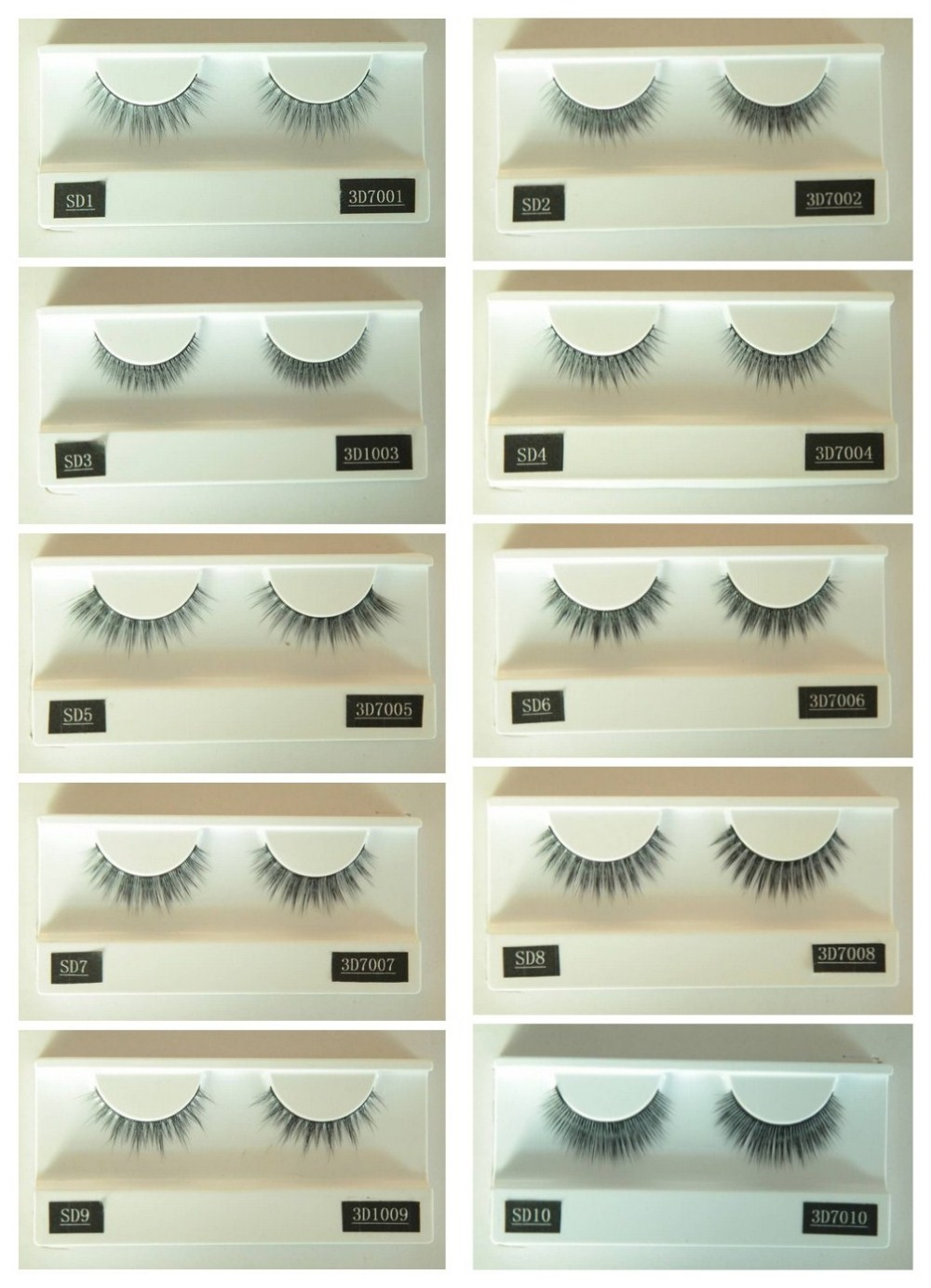 Wholesale premium 3D silk lashes faux mink lashes customized package OEM