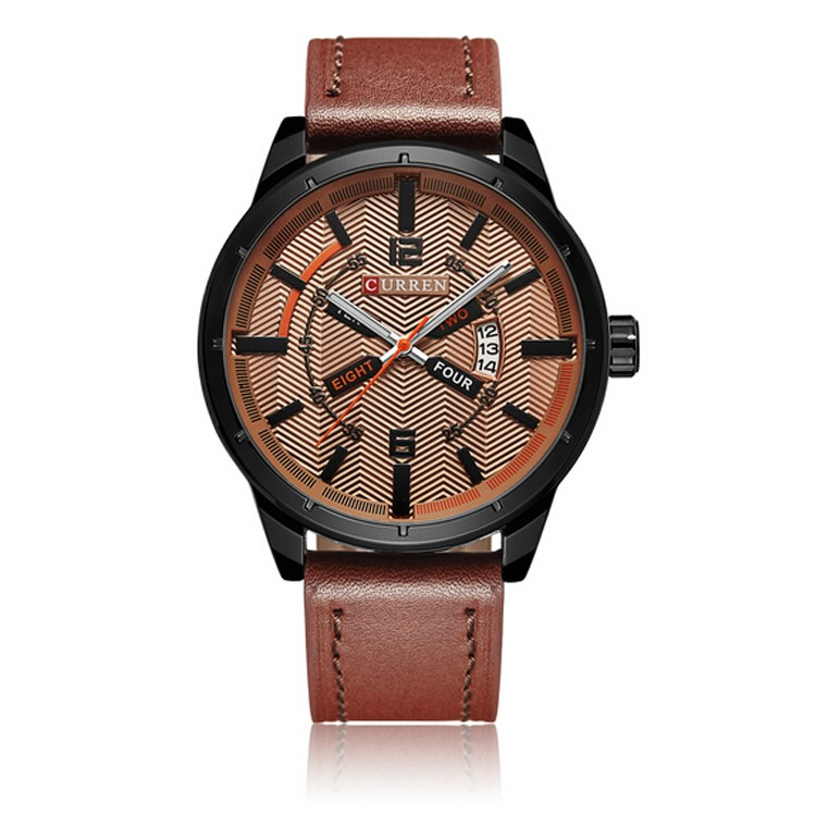 Curren watches top brand luxury leather strap quartz watches sports watches for men waterproof watches