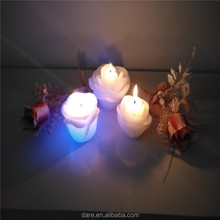 Valentine's Day used led opening flower candle