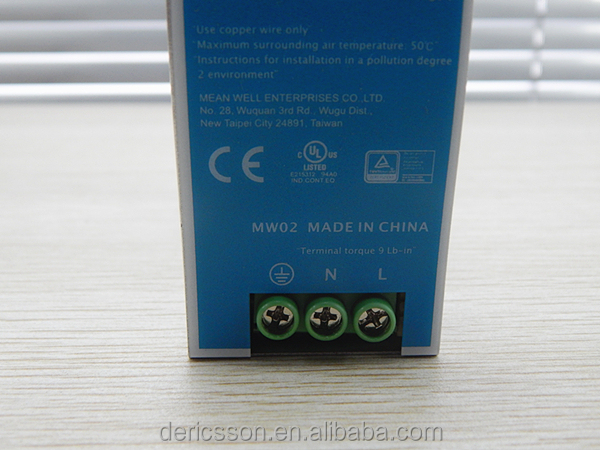 MW NDR-120-24 120w 24v din rail cutting din rail connectors