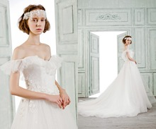 2016 lace bridal wedding dress real photo sweet-heart wedding dress