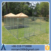 2015 New design fashionable powder coating convenient high quality cheap wrought iron large outdoor dog kennels