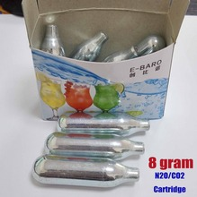 8gram N2O Non-Threaded Cartridge N2O Cylinder whipped cream Charger