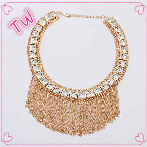 Latest design luxury fancy statement necklace sets 2016 wholesale thailand beautiful jewlery <strong>18</strong> <strong>k</strong>