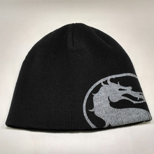Dragon stamp in autumn and winter wool knitted hat hat cap cap ear warm set