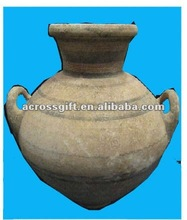 aged look terracotta amphora painted