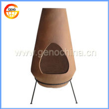Outdoor Wood Fired Clay Chiminea for Garden Decoration