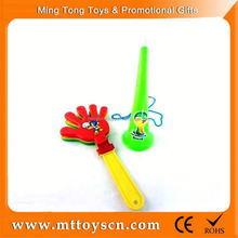 Customized Logo Cheering Noise Maker toy plastic fans rattle