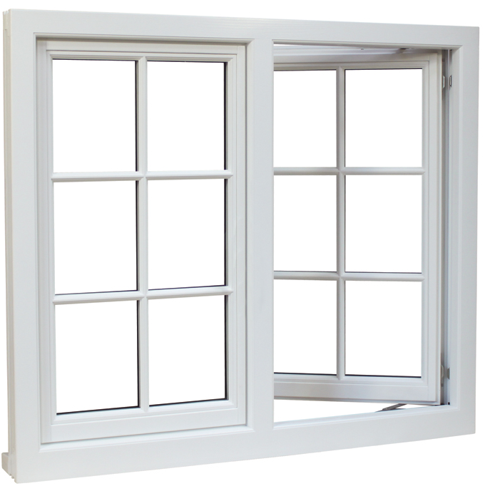 Industrial projects plastic windows pvc insert tempered glass pvc plastic window