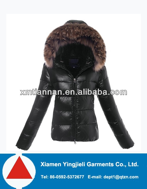 2013 jacket model for women ladies down coat large real racoon fur collar winter