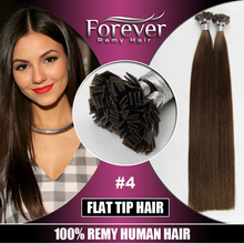 Wholesale full cuticle 6 inch human star quality keratin flat iron hair extensions