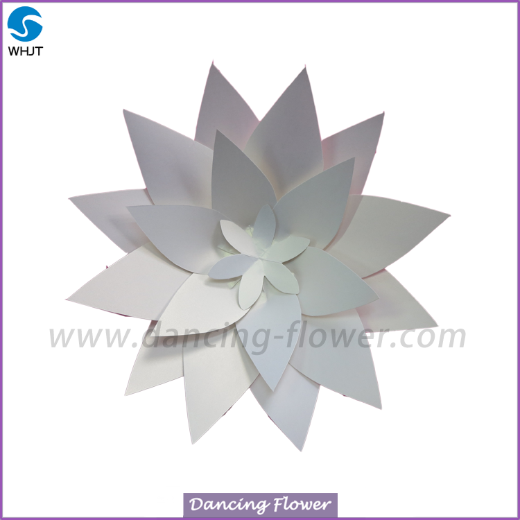 Beautiful deep colour big artificial wall flower paper foam flower for decoration