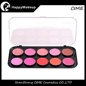 2016 New No Logo 10 color cosmetic cheek blusher makeup blush palette