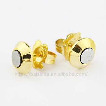 round cute animal bear unique stud earrings women jewelry