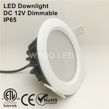 12V LED Downlight Trim Dimmable 7W 600 Lm 5000K Day Light Retrofit LED Recessed Lighting Fixture ETL Listed