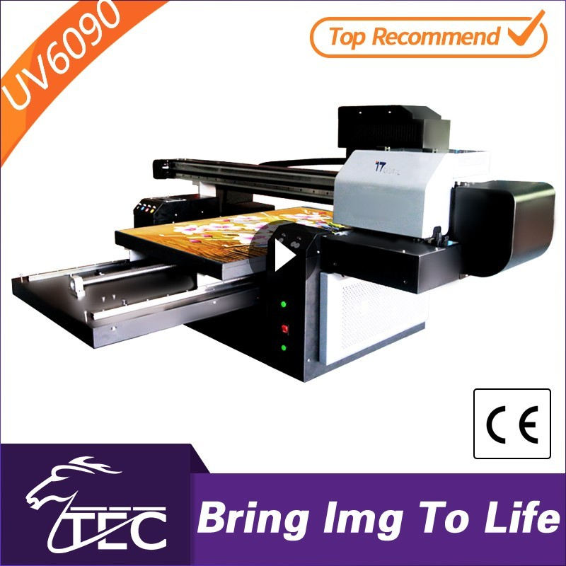 TWO DX7 600*900mm TJ6090UV uv flatbed printer for printing on metal