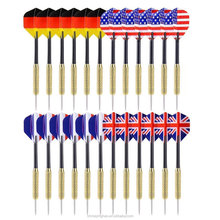 Wholesale Tip Darts with National Flag Flights Stainless Steel Needle Tip Dart with Extra PVC Dart Rods,24 Pack