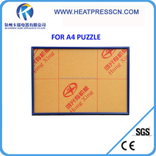 blank sublimation puzzle frame A4