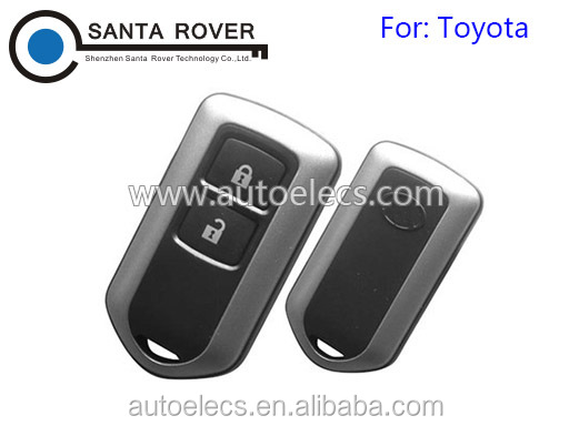 For Toyota Corolla Camry Reiz Highlander Yaris Remote Key Case 2 Button
