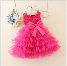 Latest Flower Girl Baby Wedding Party Layered Princess Summer Sleeveless Tutu Dress LM1818XZ