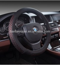 Professional manufacturer car accessoires leather steering wheel cover