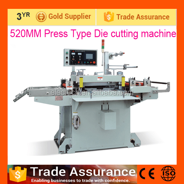 320MM/ 520MM Automatic Label platen die cutting machine, die cutting press machine for aluminum foil