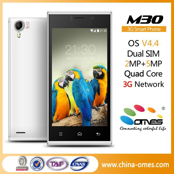 Free download music OMES Mobile M30 4.5 inch IPS Android 4.4 Quad Core 3G smartphone dual sim