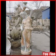outdoor Cast stone decoration light pillar statue column