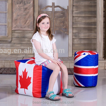 Kids Stool Square Flag Printing Bean Bag