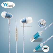 Popular Metal Stereo in Ear Metal Earphone Wired Headphone with Mic & 4 Replaced Earbuds