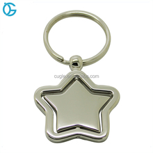 China Factory Supply Cheap Metal Revolving Spinning Key Ring Rotary Key Chain